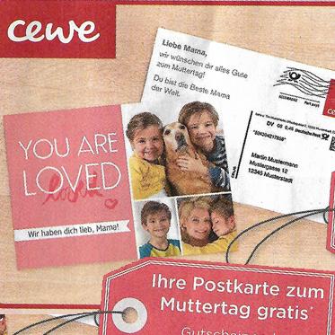 Kostenlose Postkarte - mit eigenem Bild und Text zum verschicken [Budni@Cewe]