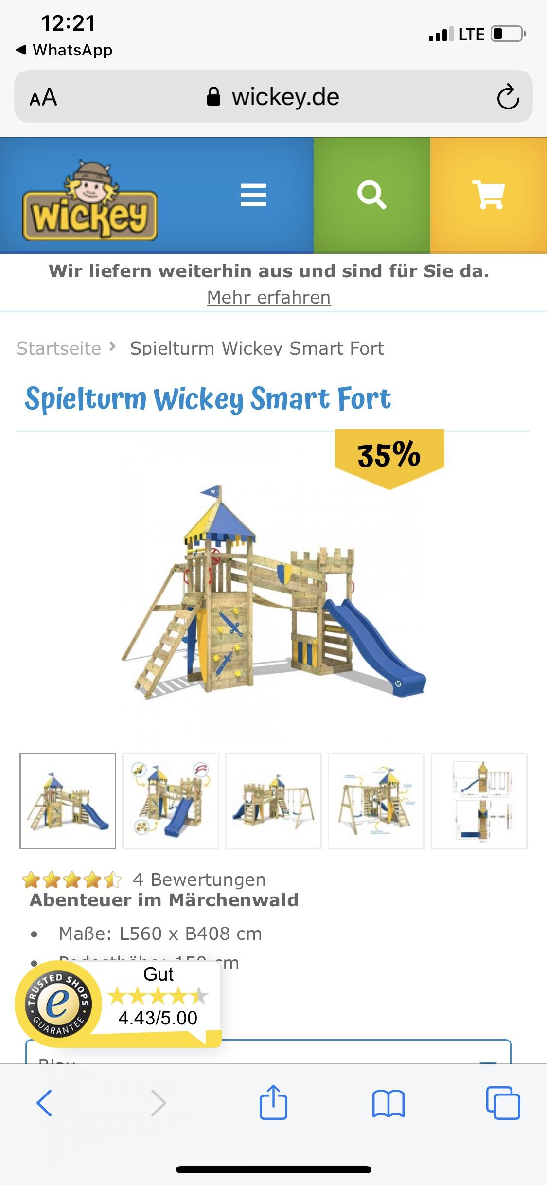 Wickey Spielturm Smart Fort