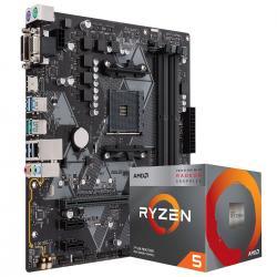 Aufrüstkit Ryzen 3400G + ASUS-Prime-B450M-A-Mainboard mit 6x SATA + 8GB RAM