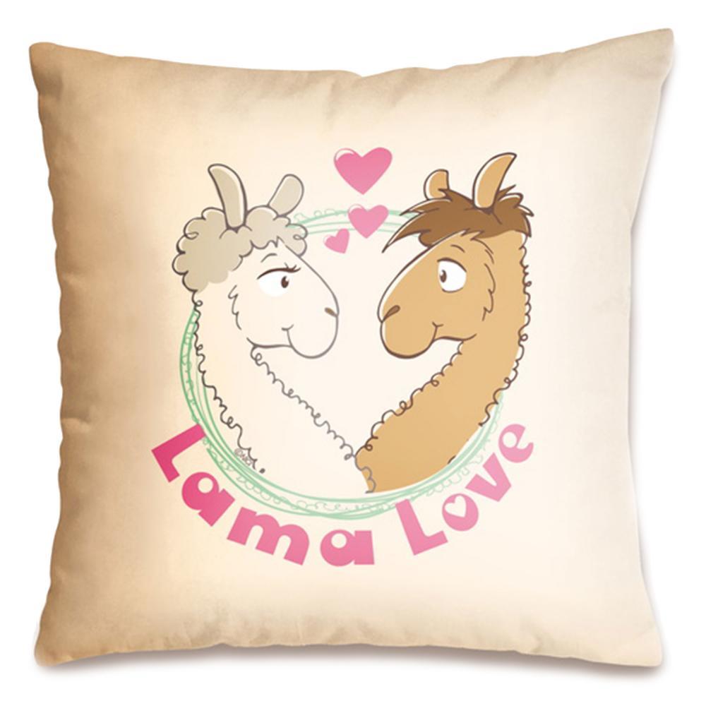 """( Amazon Prime ) Nici 42162 Baumwollkissen """"Lama Love"""", 37 x 37 cm"""