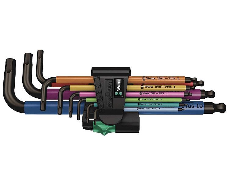 [prime] Wera hex plus Multicolour Winkelschlüsselsatz, metrisch, BlackLaser