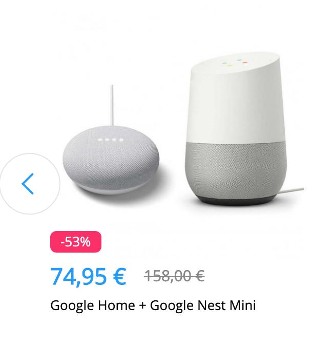 Smarte Lautsprecher: Google Home + Google Nest Mini für 74,95€