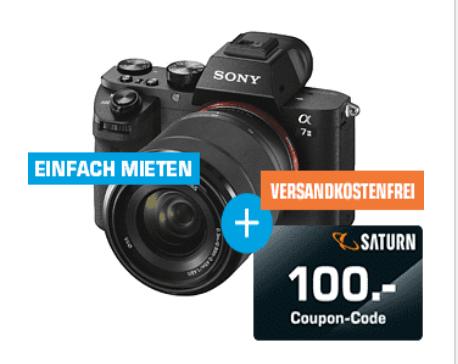 [Saturn Sammeldeal] Top Deals Aktion,Sony Alpha 7 M2 Kit (ILCE-7M2K) Systemkamera + 100€ Saturn Coupon 24.3 Megapixel mit Objektiv 28-70 mm