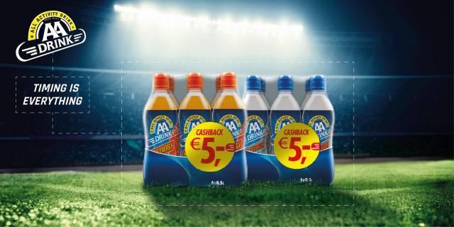 5€ Cashback auf einen Sixpack AA Drink (Coupies) 3x Einlösbar
