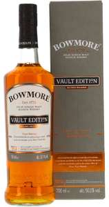 Whisky-Übersicht #26: Sammeldeal, z.B. Bowmore Vault Edition Second Release Peat Smoke Islay Single Malt 50,1% vol. für 59,90€ inkl. Versand