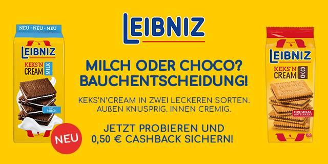 [Familia] Leibniz Keks`n Cream + Coupies Cashback = 0,99€
