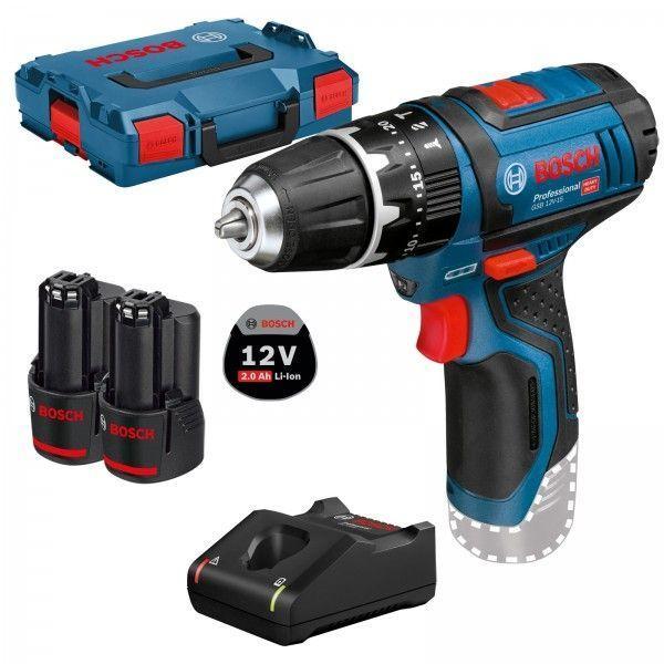Bosch Akku-Schlagbohrschrauber GSB 12V-15 Professional 12 V / 2x 2,0 Ah Akku + Ladegerät in L-Boxx für 115,90€ [Werkzeugstore24]