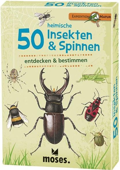 moses. Expedition Natur - 50 heimische Insekten & Spinnen, Bestimmungskarten im Set mit Quizfragen für 5,39€ (Amazon Prime & Thalia Club)