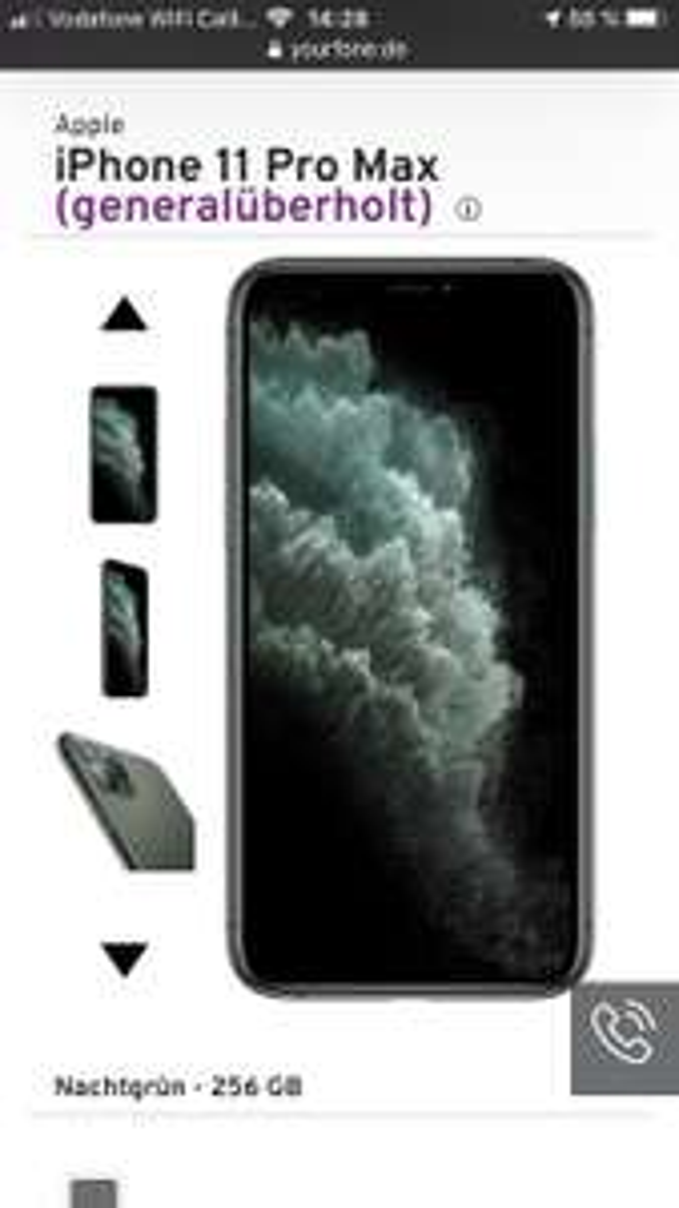 iPhone 11 Pro Max Generalüberholt 256GB / 64Gb Vertrag Yourfone