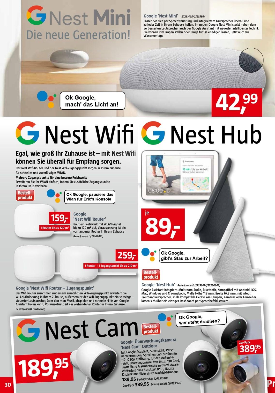 Google Nest Smarthome (z.B. Google Nest Cam Outdoor) @ Bauhaus