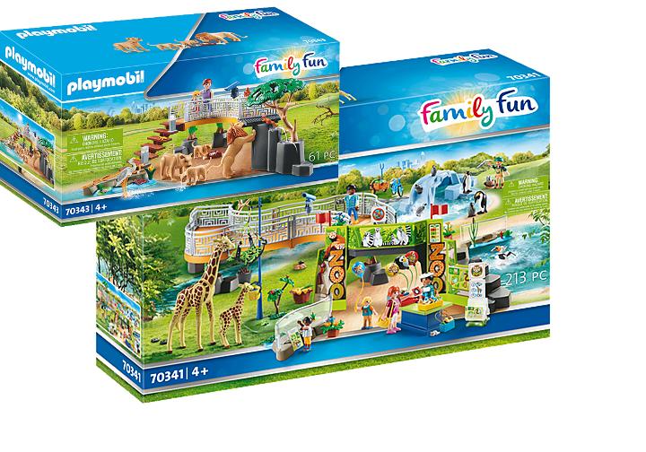 Playmobil Mein großer Erlebnis-Zoo 70341 39,99€ oder Löwen im Freigehege 70343 19,99€, Rofu