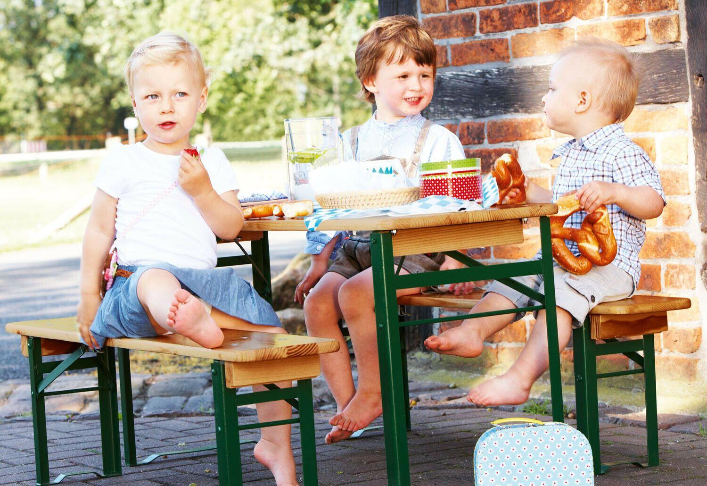 PINOLINO Kinder-Sitzgarnitur/Festzeltgarnitur Sepp 3-tlg., Rofu