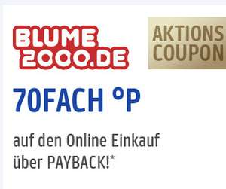 [Payback] 70 Fach Punkte bei Blume2000.de 05.+06.05.