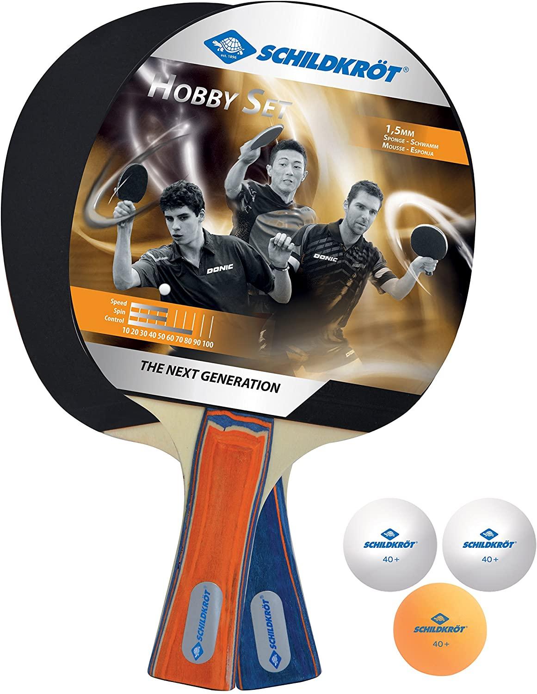 Donic-Schildkröt Tischtennis-Set Hobby, für 2 Spieler (2 Schläger, 3 Bälle) für 5,99€ (Müller Abholung)