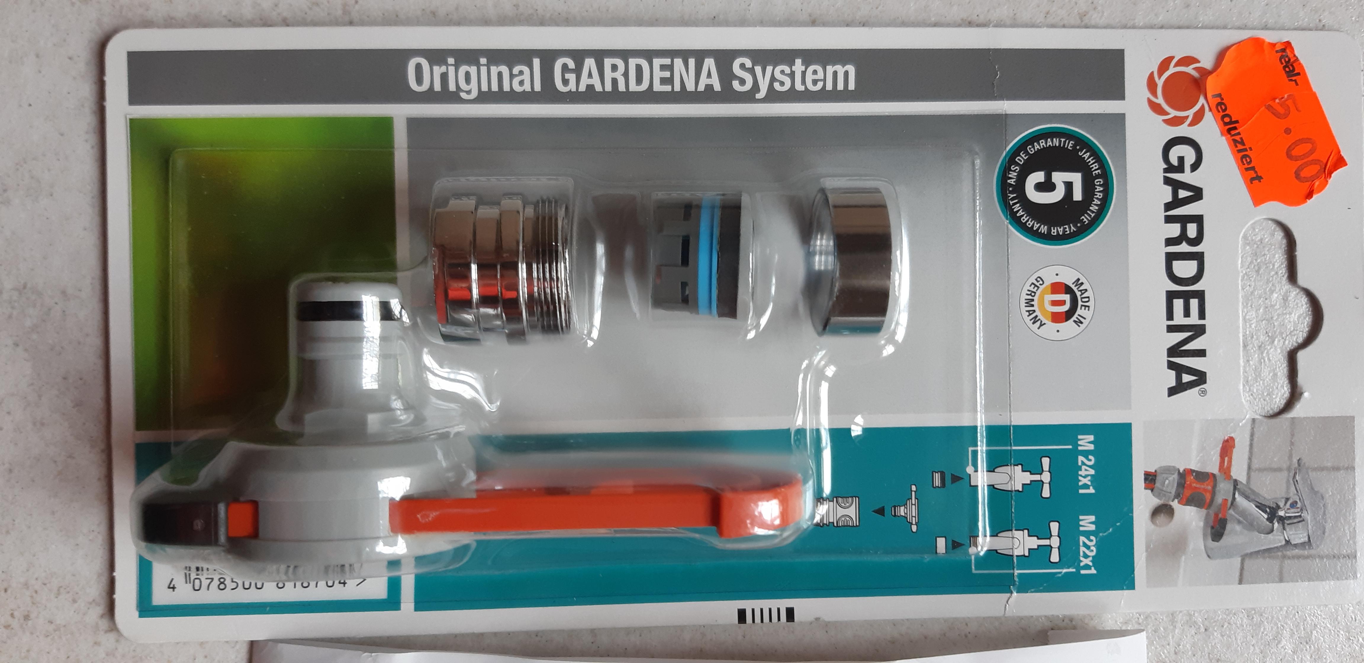 REAL lokal Gardena Adapter Set 4€ mit FF für Wasserhähne