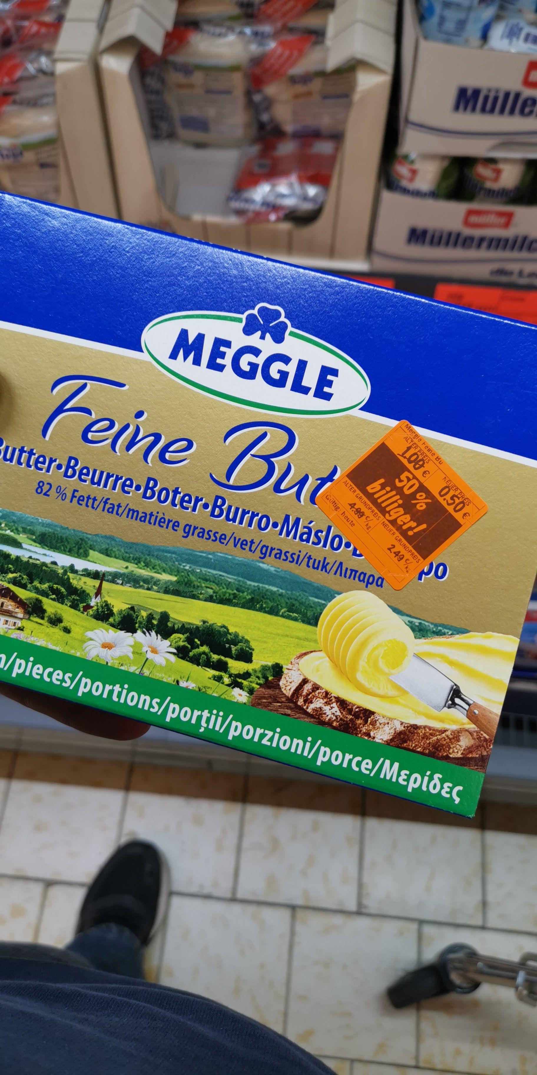 Meggle Butter 1kg (100x10g) ggfls. Lokal