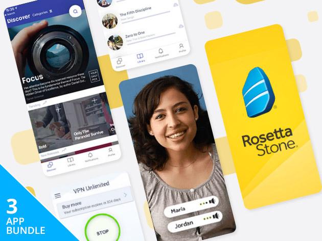lebenslanger Rosetta Stone Zugang (24 Sprachen lernen) mit lebenslangen VPN Zugang
