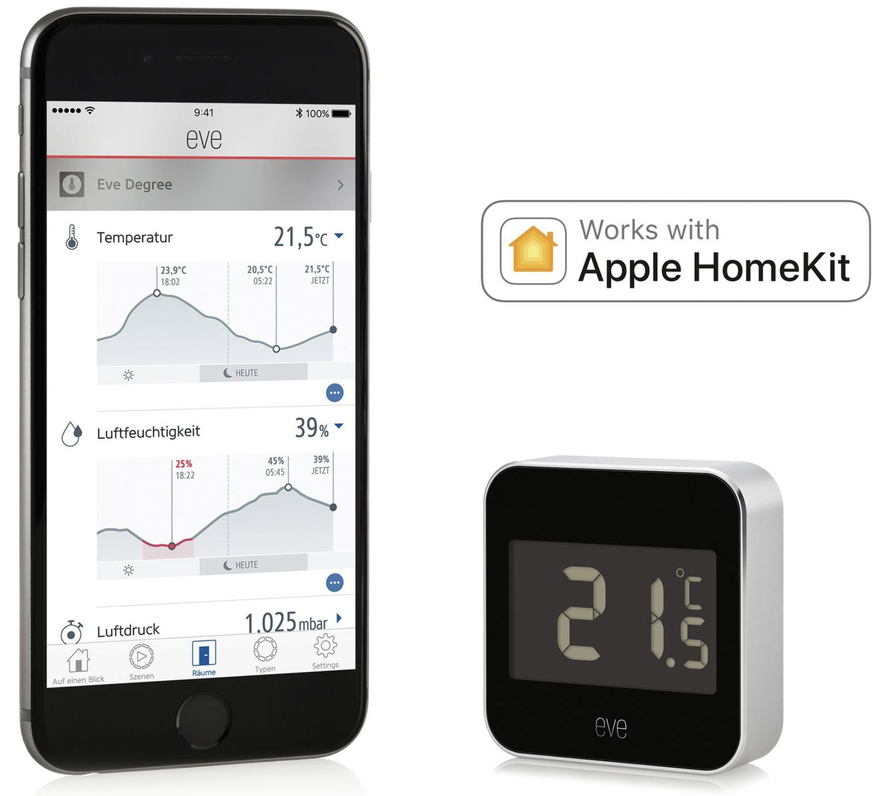 Elgato Eve Degree Smarte Wetterstation Apple HomeKit für 49,95€ inkl. Versandkosten