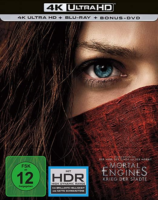 Mortal Engines Krieg der Städte 4K UHD + BD Steelbook exclusiv von Amazon