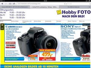 [ Lokal LB] Canon Eos 600d mit EF-S 18-55 mm IS II(499€) oder mit Sigma 18-200 mm OS II(779€)
