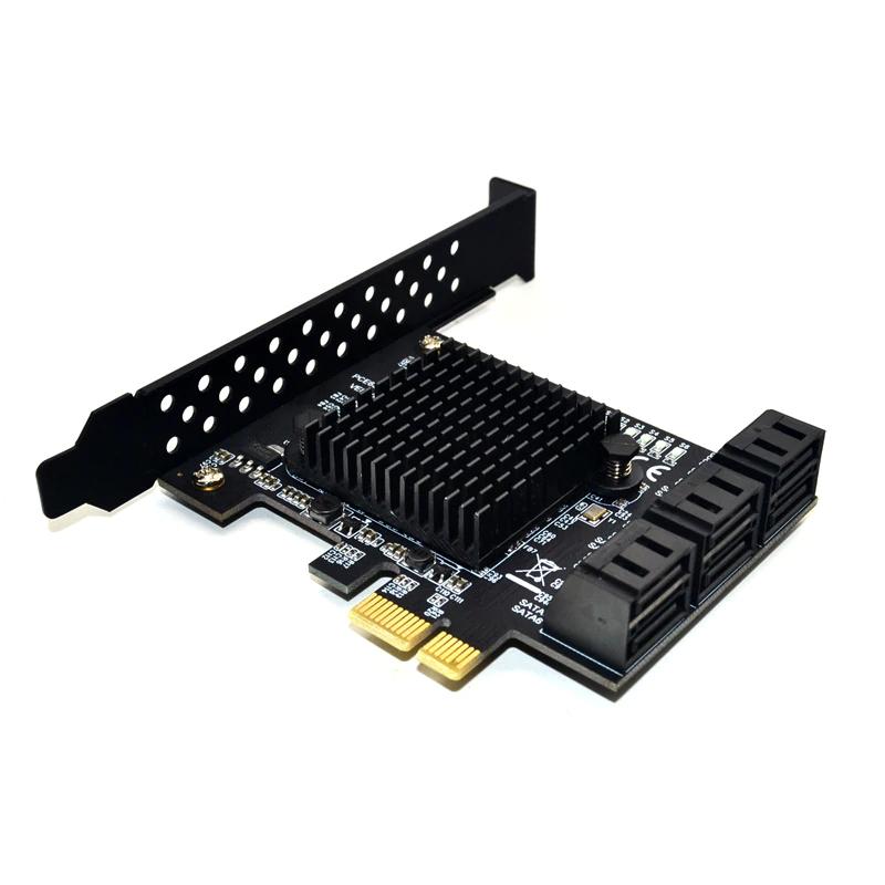 6 ports SATA 3,0 PCIe expansion Karte