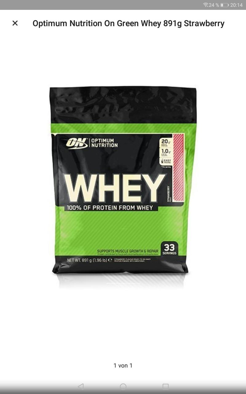 Optimum Nutrition Whey Protein Vanille 5346g (6x 891g) 6,64€/kg Versandkostenfrei