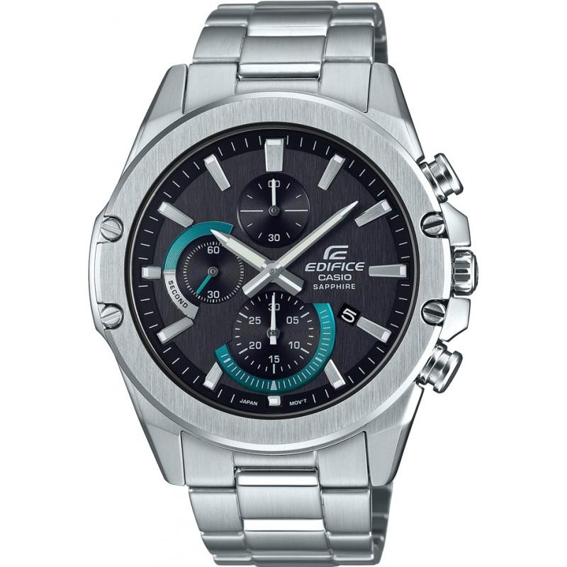 [Watches2u] Casio Edifice S567D-1AVUEF, Slim Line Chronograph, Saphirglas