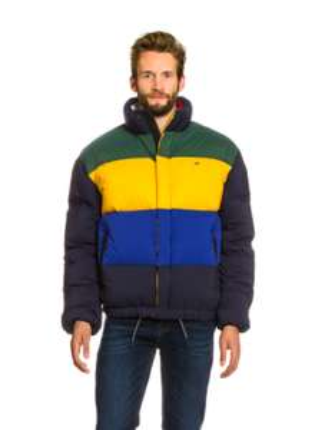 Tommy Hilfiger Jkt Oversize Color Down Navy Multi in M, L und XL