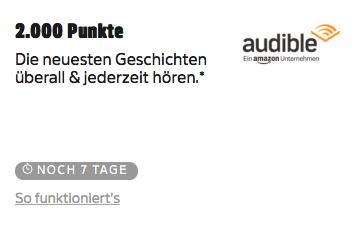 (Deutschland Card) 2000 Punkte für das Audible Vorteilsabo