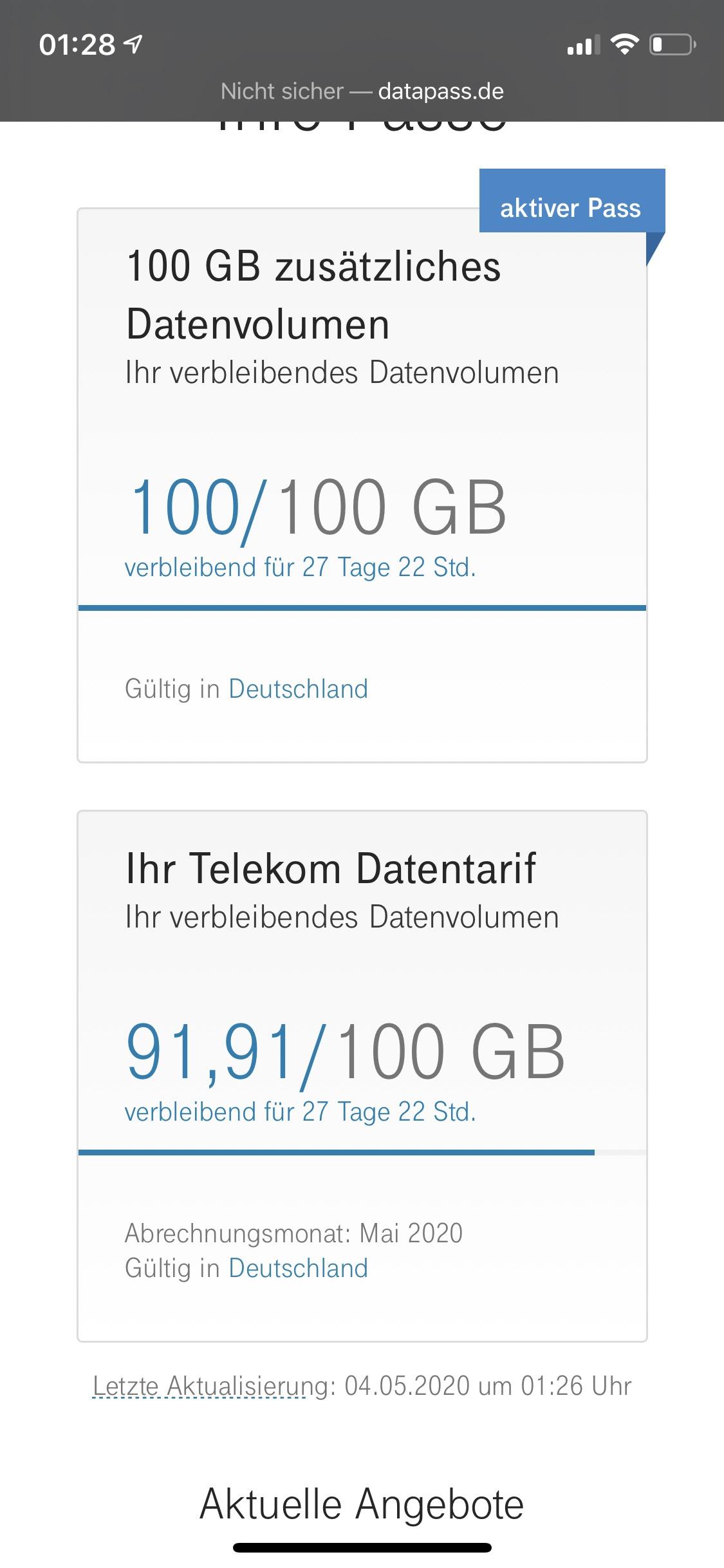 Speedbox Telekom 100GB extra Geschenk