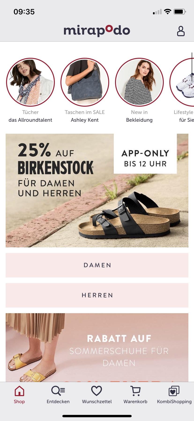 25% auf Birkenstock für Damen und Herren