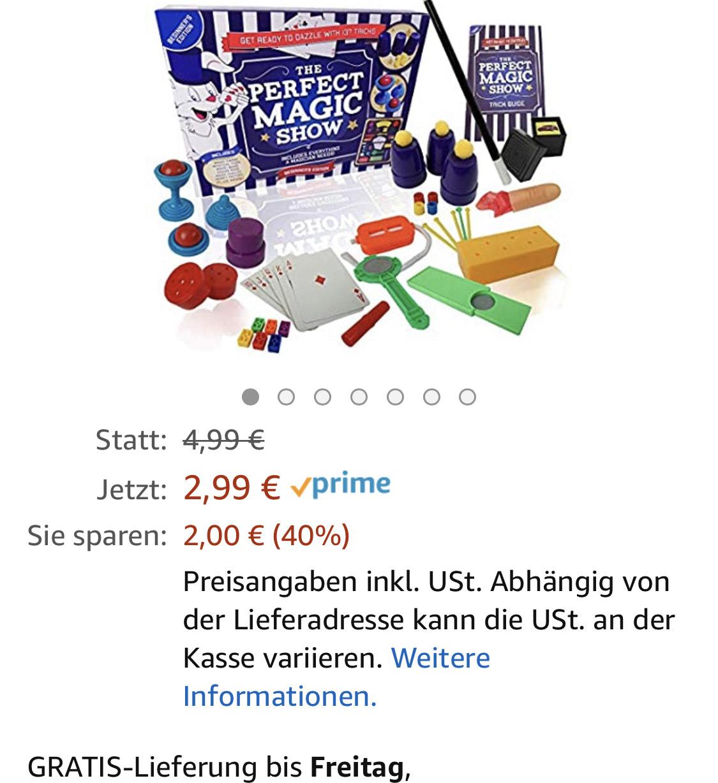 Amazon Prime - Die perfekte Magic Show – 137 Magic Tricks – Kinder Magic Set