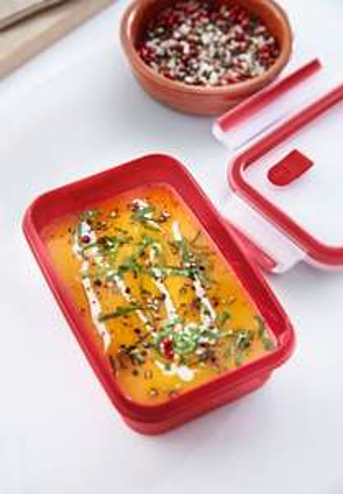 Emsa Mikrowellen-Dose, Lunchbox, Rot/Transparent, Clip & Micro, 0,8 L. 3,99€, 1 L. 4,99€, 1,2 L. 5,99€, Globus