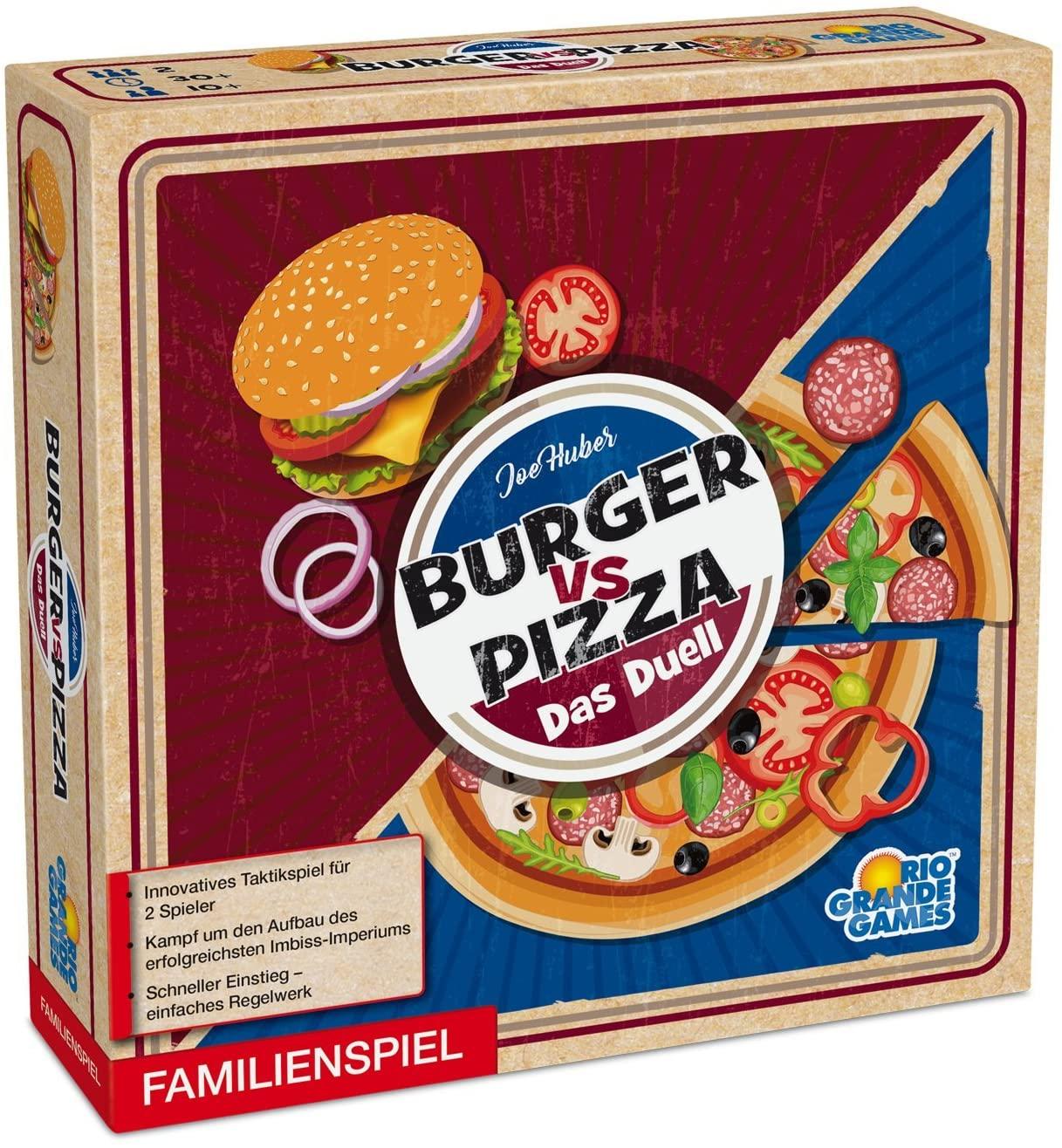 Burger vs Pizza - Das Duell (2 Personen Brettspiel, Gesellschaftsspiel)