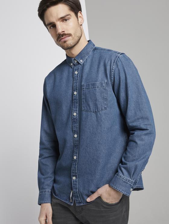 Tom Tailor Jeanshemd mit Brusttasche in blau oder hellgrau (Gr. S - XXL)