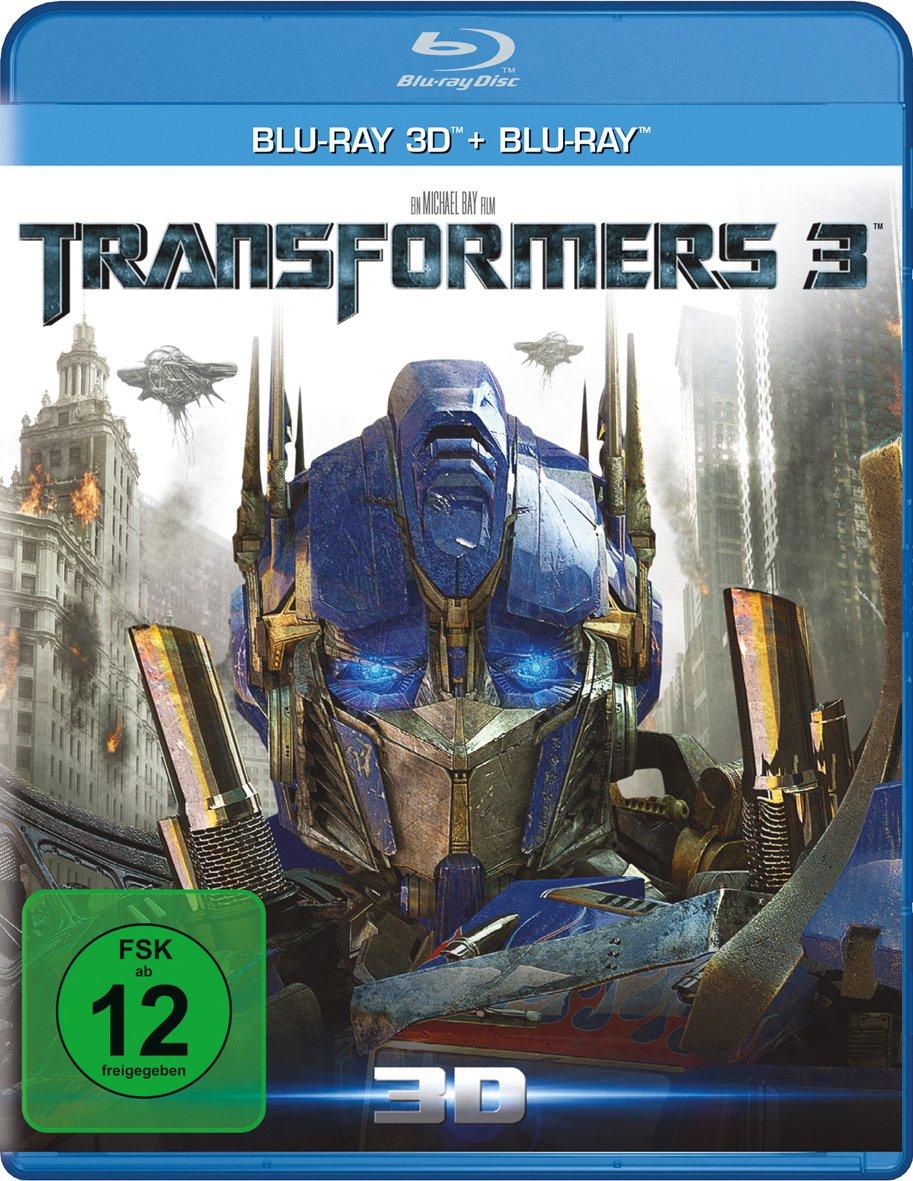 Transformers 3: Die dunkle Seite des Mondes 3D (Blu-ray 3D + Blu-ray) für 4,99€ (Amazon Prime & Müller Abholung)