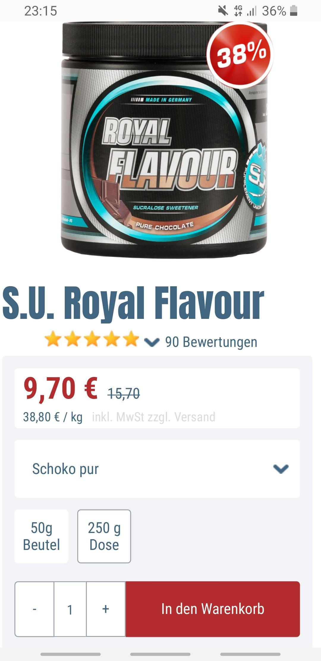 S.U Royal Flavour Pure Chocolate - 250 Gramm