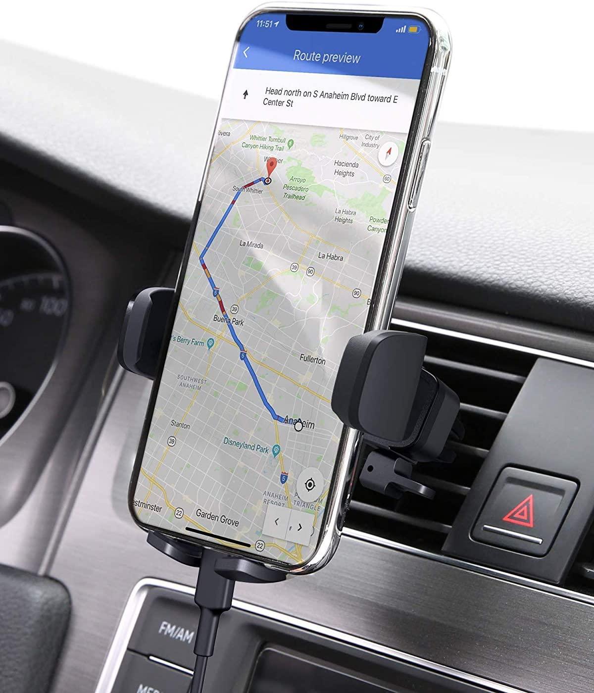 [Amazon Prime] 2 Halterungen für 5,76 € von AUKEY Handyhalterung Auto 360 Drehbar für den Luftauslass