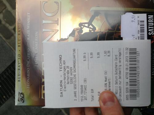 [Lokal Aachen] 3D Blu-Ray Titanic