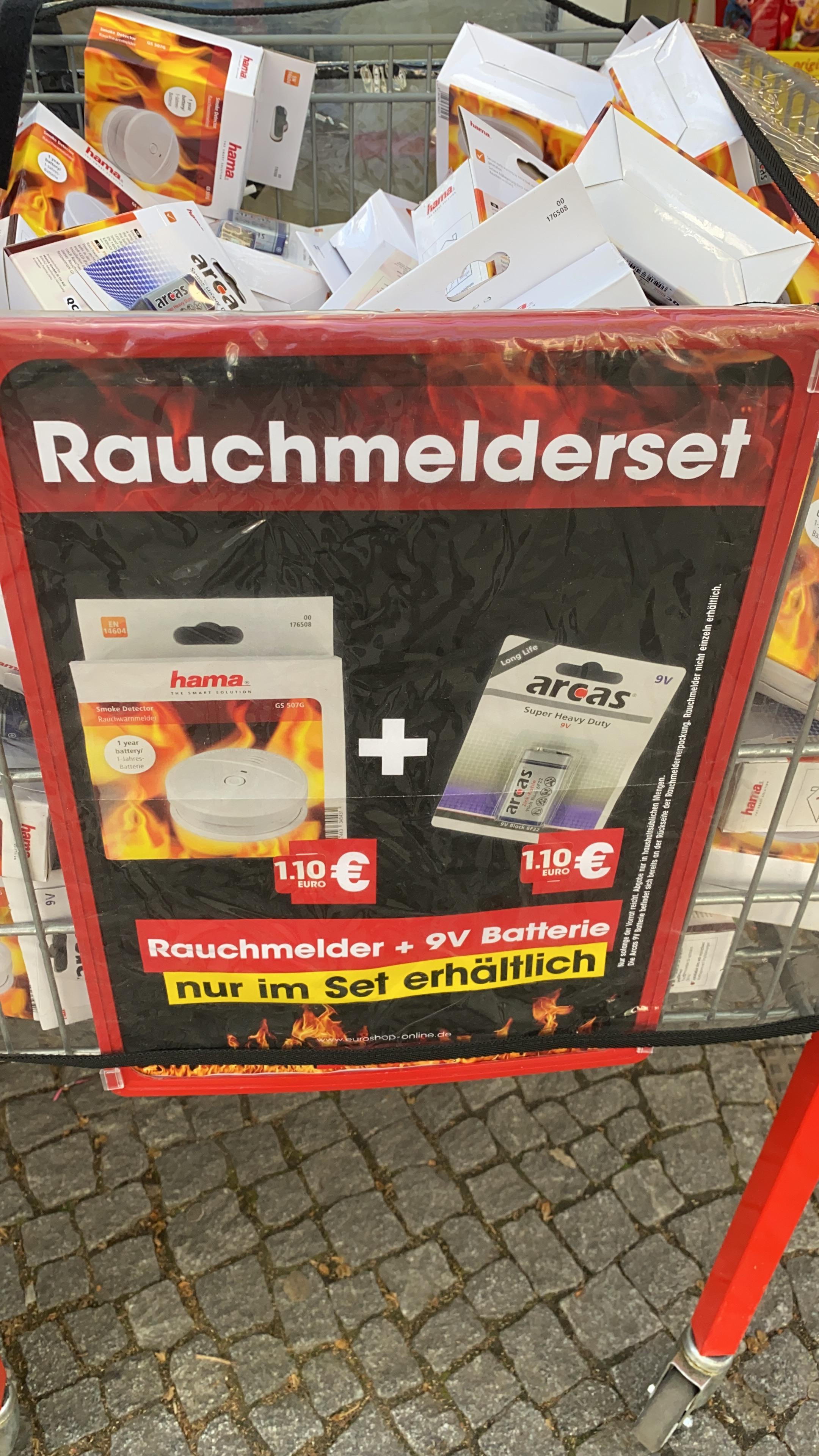 [Lokal Berlin Steglitz] EuroShop HAMA GS507G Photoelektrischer Rauchwarnmelder inkl. 9V Block