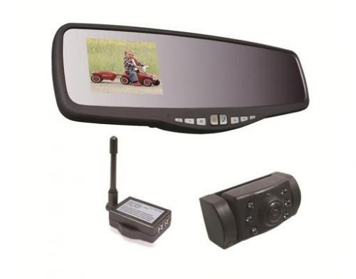 Kabelloses Rückfahrkamerasystem APB220 mit LCD Display im Rückspiegel für 89,99€ @ MP