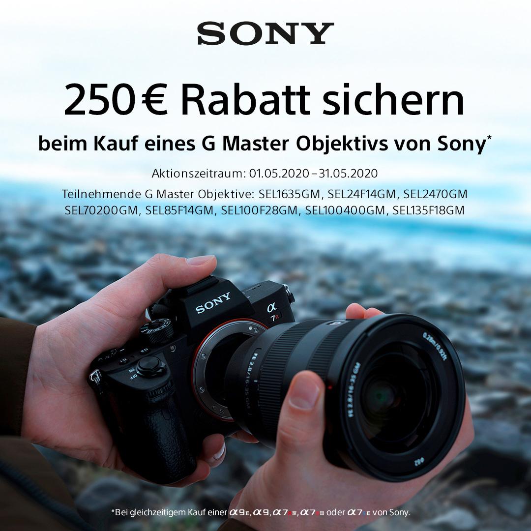Sony G Master Aktion (z.B. Sony Alpha 7R III (ILCE-7RM3) + SEL 24-70f/2,8 GM)