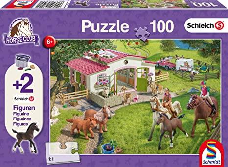 Schmidt-Spiel Ausritt ins Grüne Puzzle (100 Teile) mit 2 Schleich-Figuren für 5,84€ (Amazon Prime & Galeria Kaufhof Abholung)