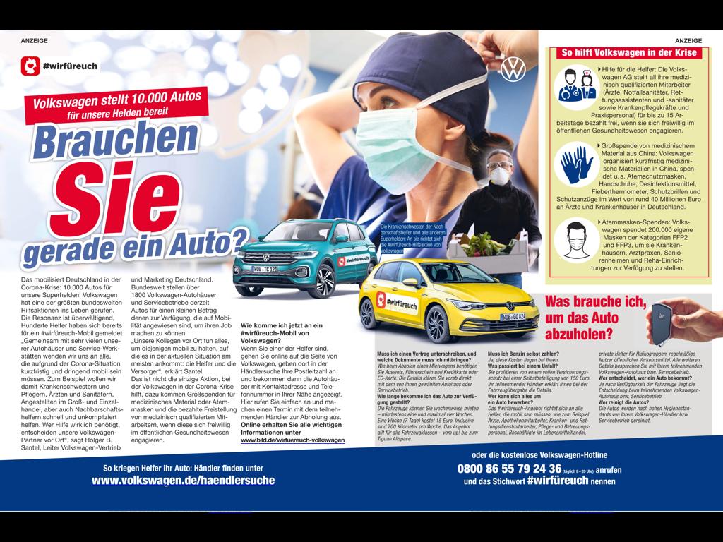 VW: Brauchen Sie gerade ein Auto? Volkswagen hilft in der Krise