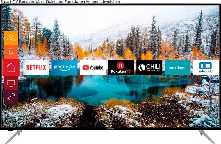 [Neckermann] Telefunken D65V800M4CWH LCD-LED Fernseher (164 cm/65 Zoll, 4K Ultra HD, Smart-TV, 4K UHD TV, HDR)
