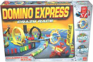 [AMAZON PRIME] Goliath 81008 - Domino Express Crazy Race, Domino-Set für Ihnen eigenen Domino Day, Aufregende Stunts mit Dominosteinen