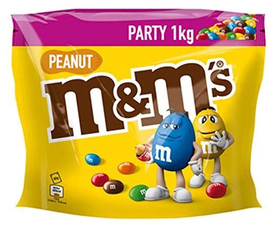 M&M'S Peanut, 1 kg Beutel jetzt 6,99 statt 9,99 (ohne Versandkosten mit Amazon Prime)