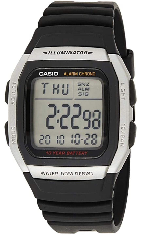 Casio Collection W-96H-1AVES Illuminator Armbanduhr mit 2. Zeitzone für 15,90€ inkl. Versandkosten