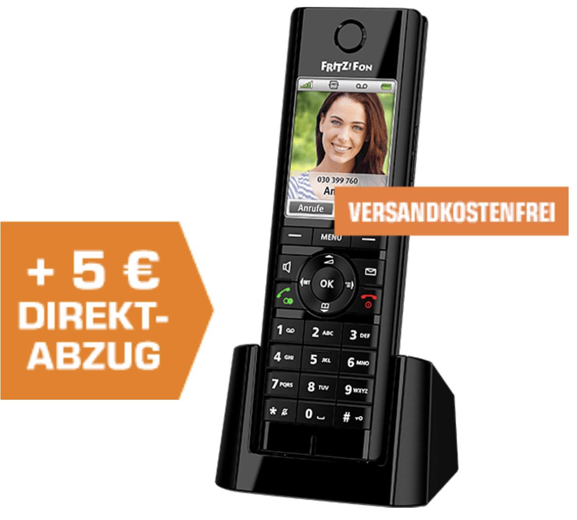 AVM FRITZ!Fon C5 schnurloses DECT Telefon für 49,99€ inkl. Versandkosten / 2 Stück für 90,98€ möglich!