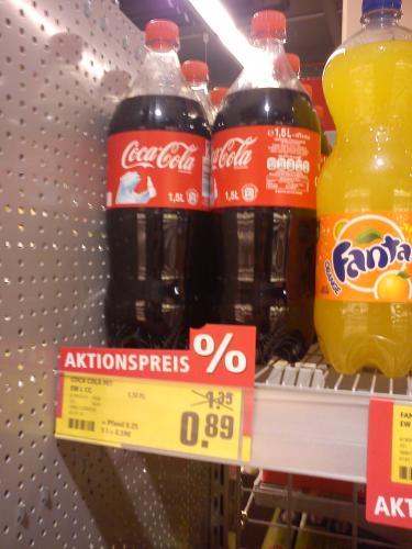 [Local Rewe] 1,5 Liter CocaCola und Co. für 0,89€ + Pfand!